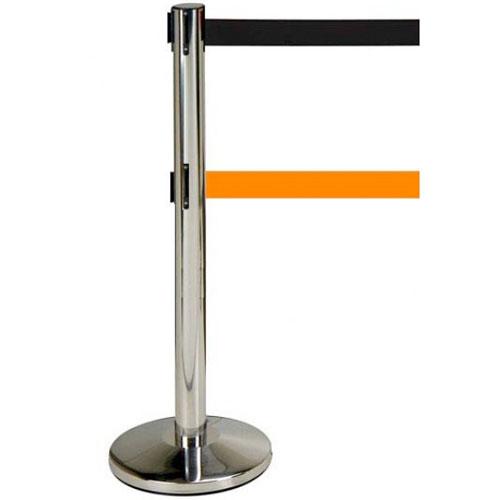 2 postes inox 2 cintas 2 m Naranja detalle 1