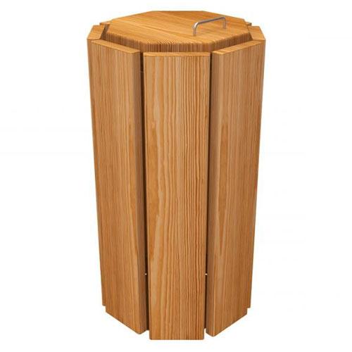 Papelera Elche Octogonal Eco 100 litros sin cubo