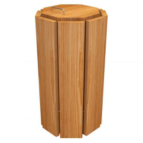 Papelera Elche Octogonal Eco 100 litros con cubo