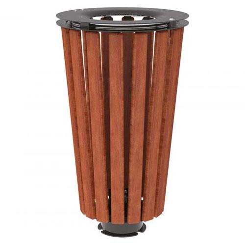 Papelera Loft Acero y Madera 80 litros sin cubo
