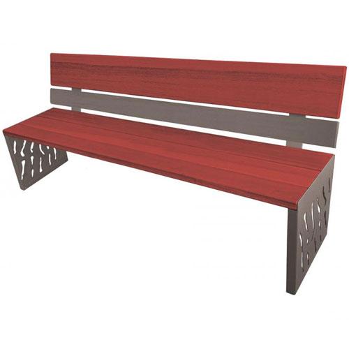 Banco Verona Mix acero y madera 180 cm