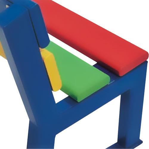 Banco infantil Roma Multicolor 150 cm detalle 1