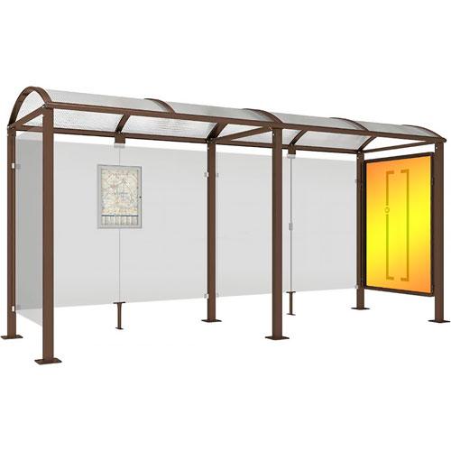 Marquesina VEDA 500 cm con vitrina + 1 lateral