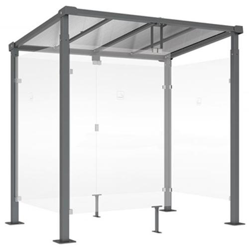 Mini Refugio de fumadores Monza 250 cm detalle 2