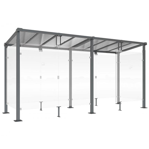 Mini Refugio de fumadores Monza 500 cm detalle 1