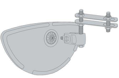 Espejo carretilla parte delantera o trasera detalle 2
