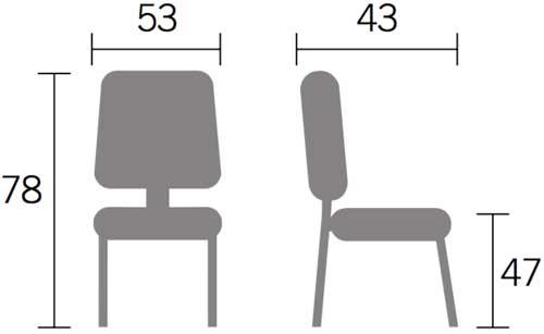 Silla Visa polipropileno detalle 3