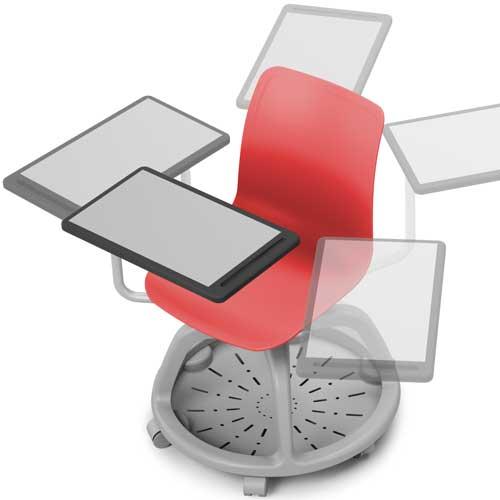 Silla Verso con ruedas y pala en HPL