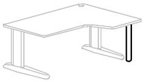 Columna para mesas en l