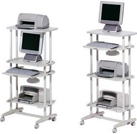 Mesa de ordenador 4 bandejas detalle 1