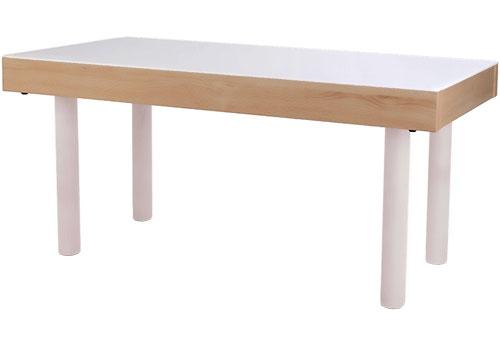Mesa de luz 150 x 50 cm patas metálicas