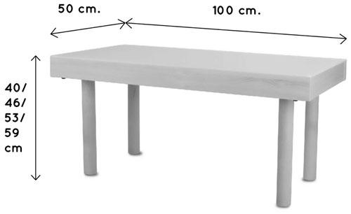 Mesa de luz 150 x 50 cm patas madera detalle 3