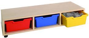 Mueble asiento con gavetas