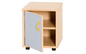 Cubo tamaño 1, 2 estantes con puerta
