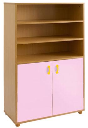 Estantería-armario Tam4, 2 puertas 3+2 huecos