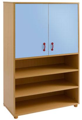 Armario-estantería 2 puertas, 2+2 huecos