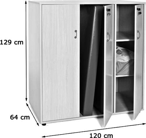 Mueble para guardar colchonetas detalle 1