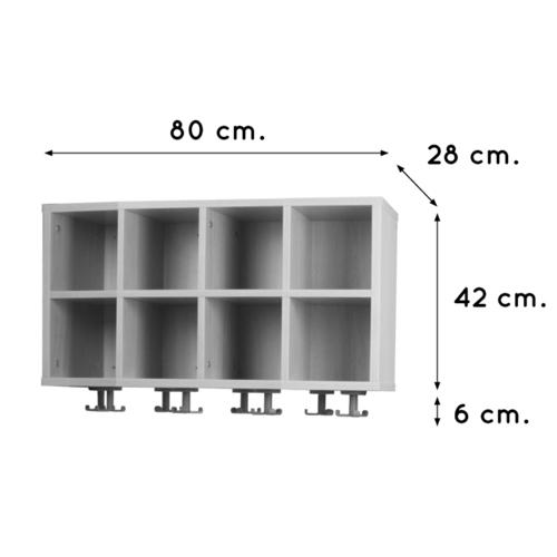 Casillero perchero de 8 espacios detalle 1