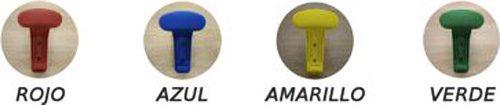 Perchero en línea 4 perchas colores detalle 2