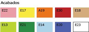 Perchero en línea 4 perchas colores detalle 3