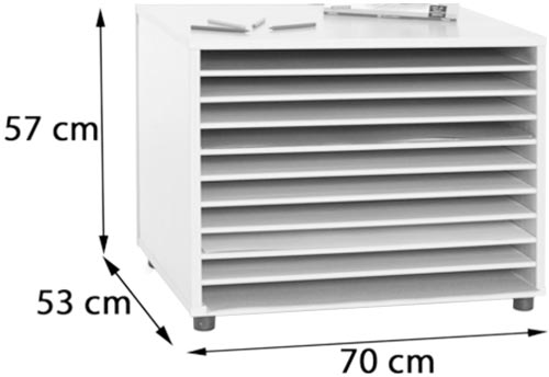 Mueble de cartulinas horizontal detalle 2