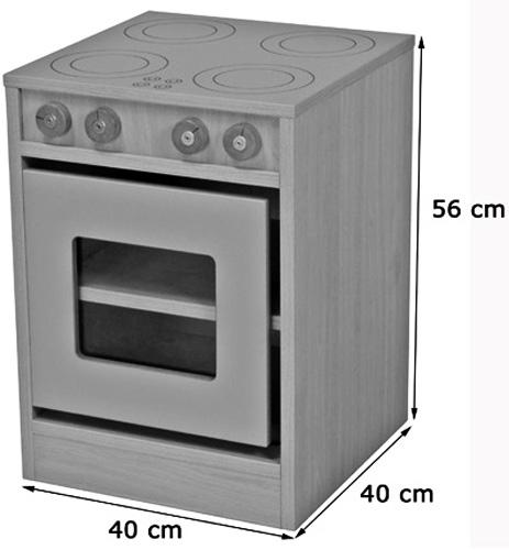 Cocinita módulo horno y placa detalle 1