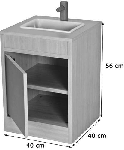 Cocinita módulo lavadora detalle 1