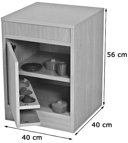 Cocinita módulo frigorífico detalle 1