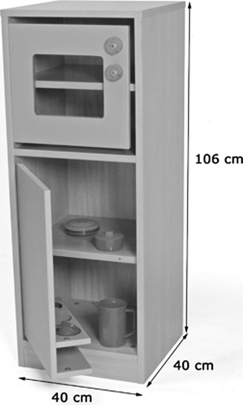 Cocinita módulo frigorífico y microondas detalle 1