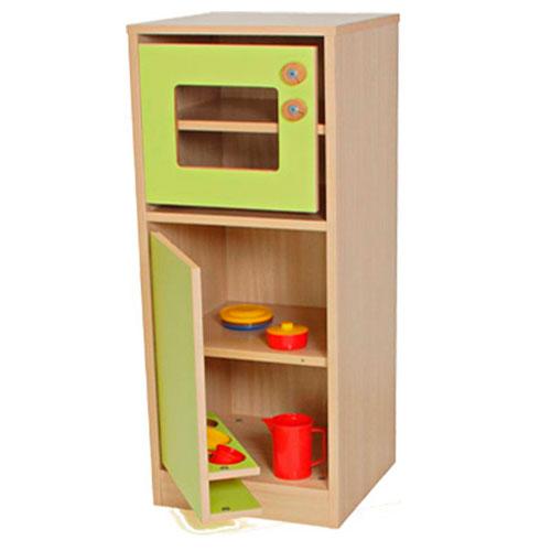 Cocinita módulo frigorífico y microondas detalle 4