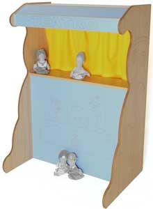 Teatro marionetas madera