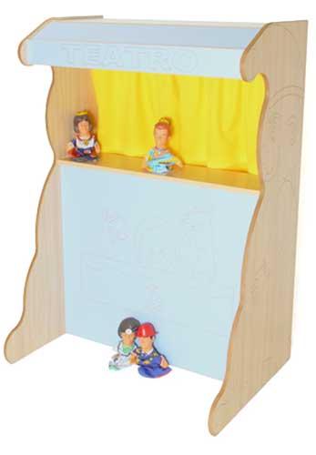 Teatro marionetas 131 cm madera