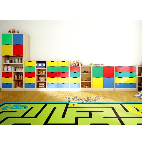 Mueble Maxicolor 5 cajones + 5 huecos 108 cm detalle 2