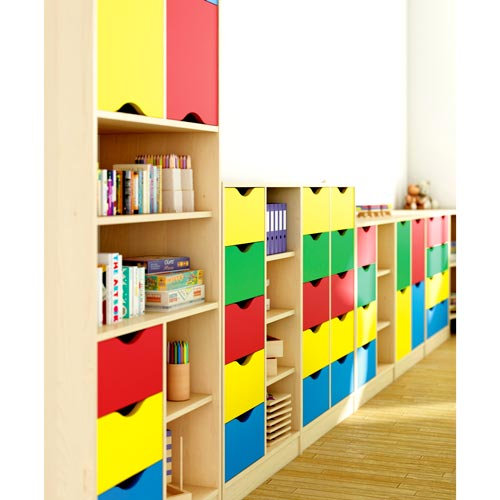 Mueble Maxicolor 5 cajones + 5 huecos 108 cm detalle 3