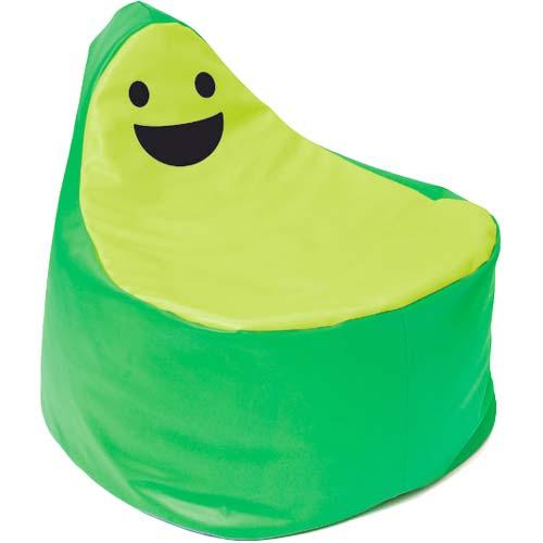 Puf smiley BanBag verde y verde oscuro