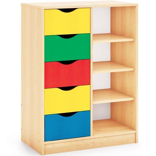 Mueble Maxicolor 5 cajones + 5 huecos