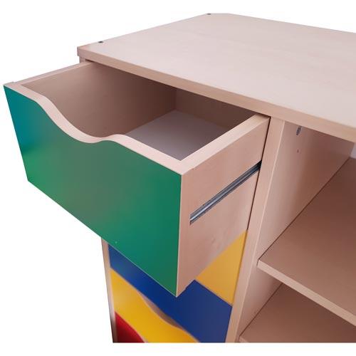 Mueble Maxicolor 5 cajones + 5 huecos detalle 1