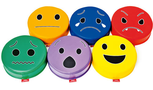 Pufs de las emociones 6 ud