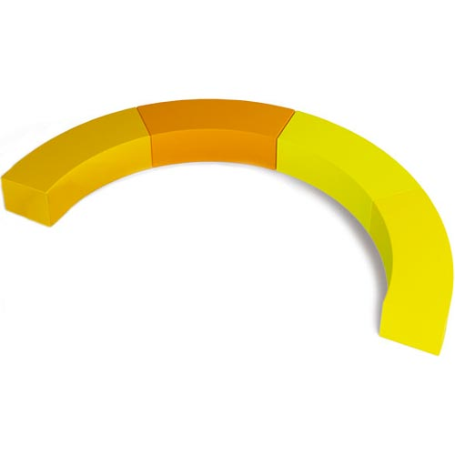 Asientos bloques amarillos 4 ud