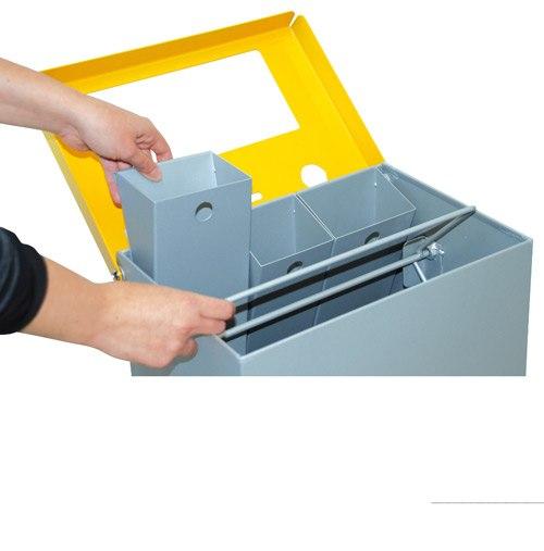 Papelera reciclaje de pilas 76 litros detalle 3