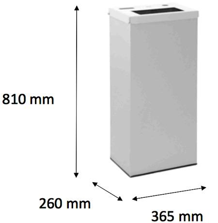 Papelera reciclaje de pilas 76 litros detalle 2