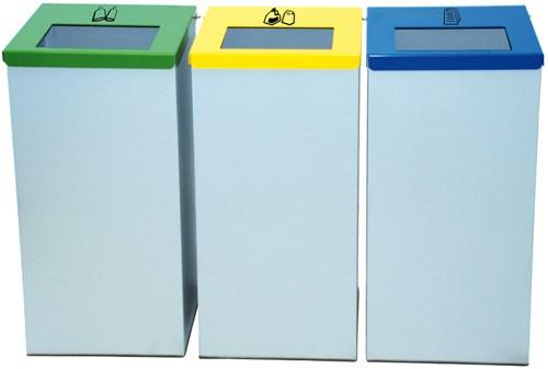 Papelera reciclaje tapa abatible 76 litros
