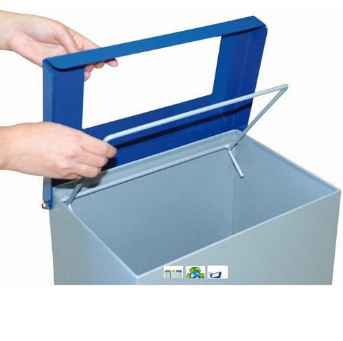 Papelera reciclaje tapa abatible 76 litros detalle 1