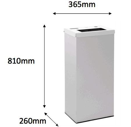 Papelera reciclaje tapa abatible 76 litros detalle 2