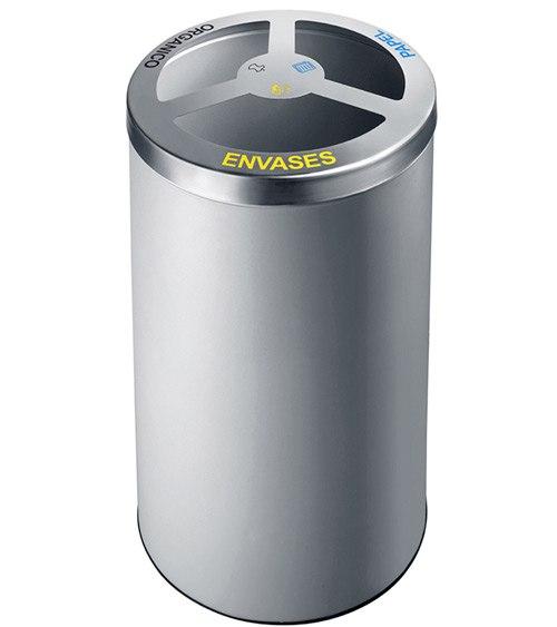 Papelera reciclaje cilindro 150 litros