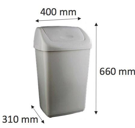 Contenedor residuos tapa basculante 50 litros detalle 1