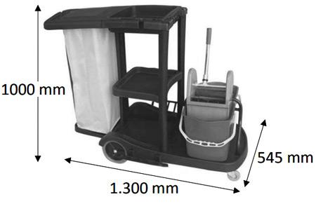Carro limpieza con cubo especial detalle 1