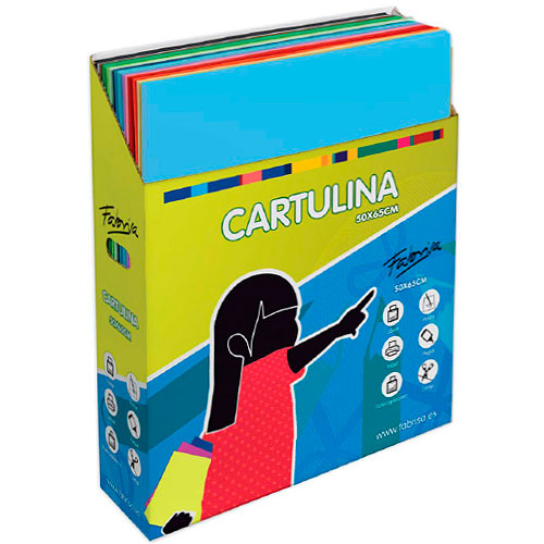 Pack 500 cartulinas 50 x 75 cm 15 colores