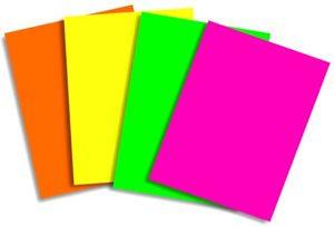 Papel A4 100 h. Colores flúor