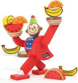 Juego de equilibrio mono de circo